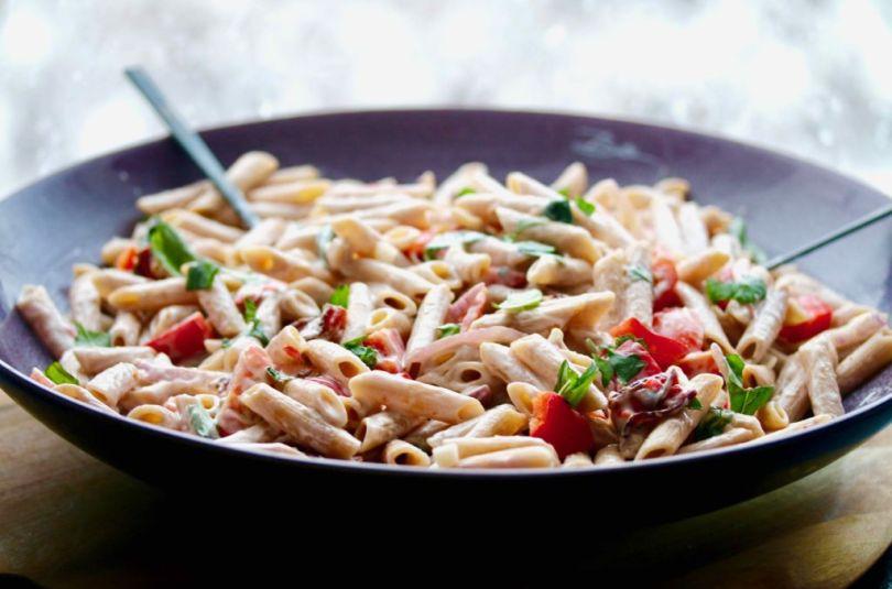 Penne pasta með sweet chilí sósu