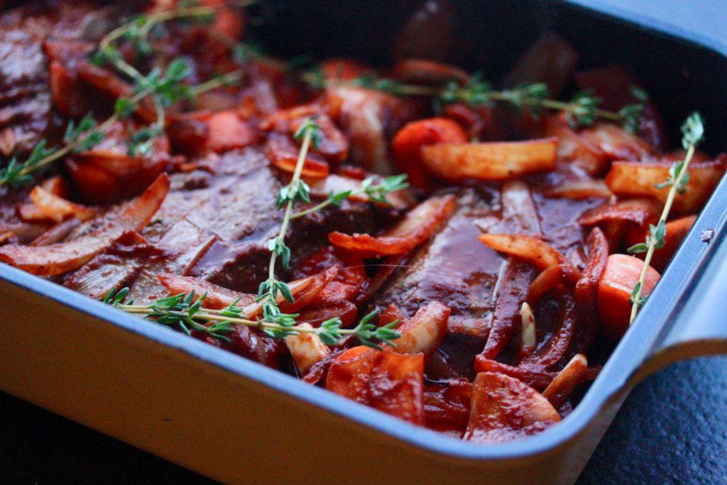Kótilettur með púðursykri, hvítlauk og kryddjurtum