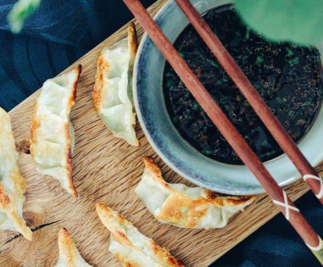 Gyoza dumplings með bestu sósu í heimi