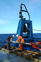 Core on deck! Cores collected from the seafloor onboard the RV Southern Surveyor