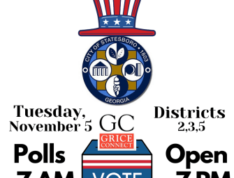 City of Statesboro, Brooklet and Register Elections Today