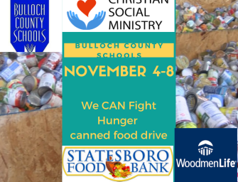 Bulloch County Schools' We CAN Fight Hunger canned food drive