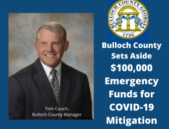 Bulloch County Sets Aside $100,000 for Emergency COVID-19 Mitigation