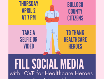 Show of Support for Healthcare Workers on Social Media at 7 PM Tonight