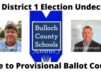 BOE District 1 Election Still Undecided – Womack Leads Brannen by 11 Votes
