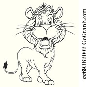 Black And White Lion Clip Art Royalty Free Gograph