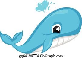Blue Whale Clip Art Royalty Free GoGraph