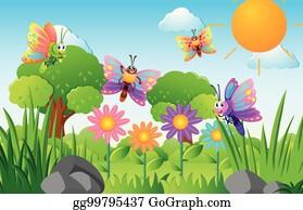 Flower Garden Clip Art Royalty Free GoGraph