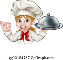 vector art female chef