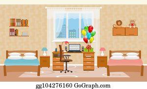 Children Bedroom Clip Art Royalty Free GoGraph