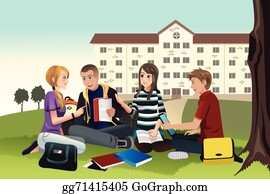 College Students Clip Art Royalty Free GoGraph