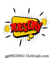 tuesday clip art - royalty free