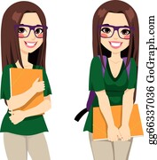 College Student Clip Art Royalty Free GoGraph