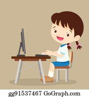 Student Computer Clip Art Royalty Free GoGraph