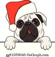pug clip art - royalty free gograph