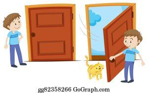 Door Closed Clip Art Royalty Free GoGraph