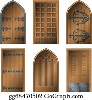 Wooden Door Clip Art Royalty Free GoGraph