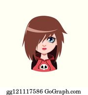 Girl Brown Hair Clip Art Royalty Free GoGraph
