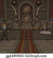 Clip Art Fantasy throne room Stock Illustration gg4490662 GoGraph