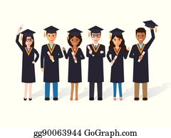 University Students Clip Art Royalty Free GoGraph