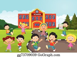 School Cartoon Clip Art Royalty Free GoGraph