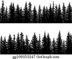 Draw a coniferous tree with h. Coniferous Forest Clip Art Royalty Free Gograph