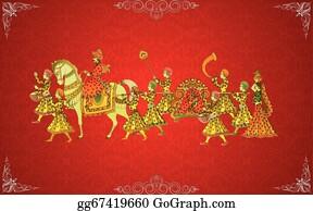 indian wedding card clip art royalty