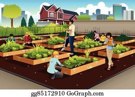 Community Garden Clip Art Royalty Free GoGraph