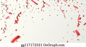 clip art fall confetti - royalty