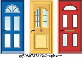 Doors Clip Art Royalty Free GoGraph