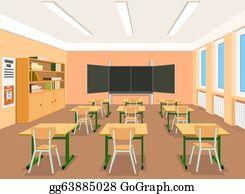 Empty Classroom Clip Art Royalty Free GoGraph