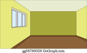 Empty Bedroom Clip Art Royalty Free GoGraph