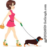 Woman Walking Clip Art Royalty Free GoGraph