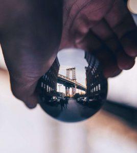 glass ball dumbo brooklyn photography