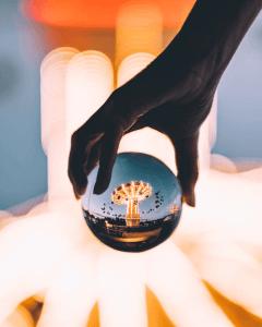 lensball with light idea