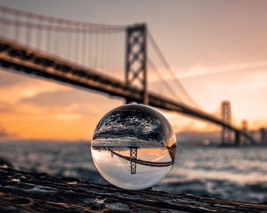 lens glass ball creative photography idea