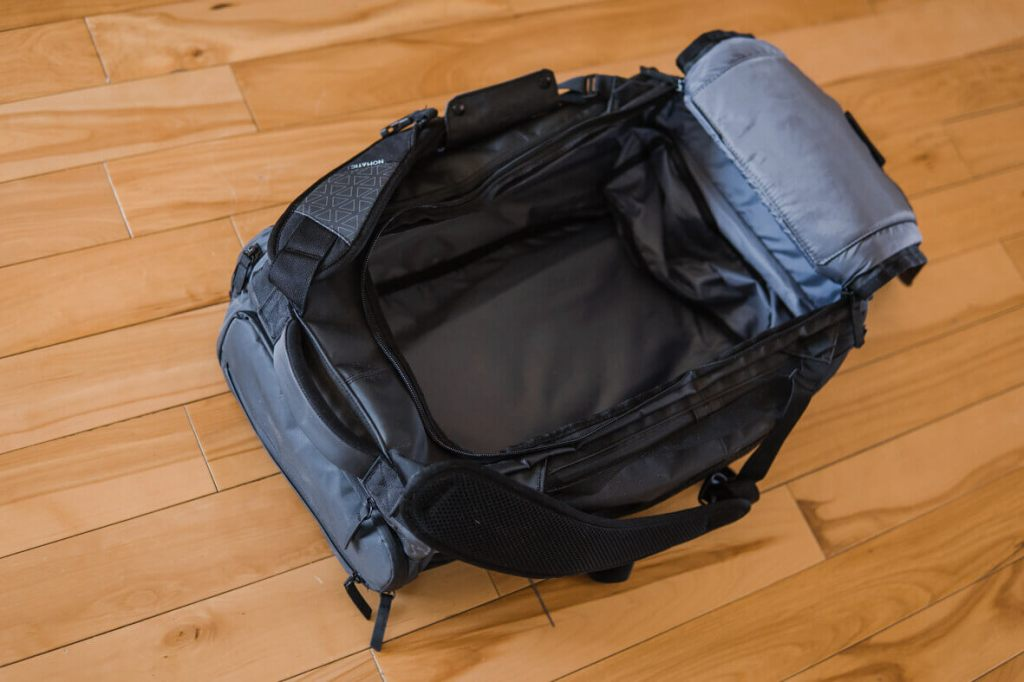 Nomatic travel bag inside space