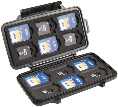 Pelican SD card hard case