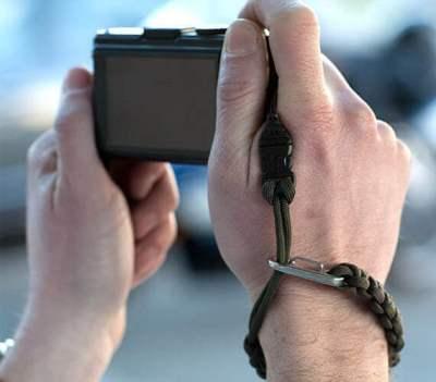 dsptch paracord camera wrist strap