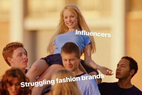 fashion brand influencer meme