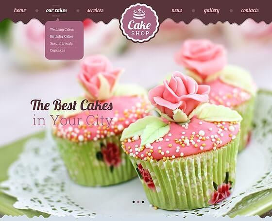 Cake Website Template By Price High Gridgum