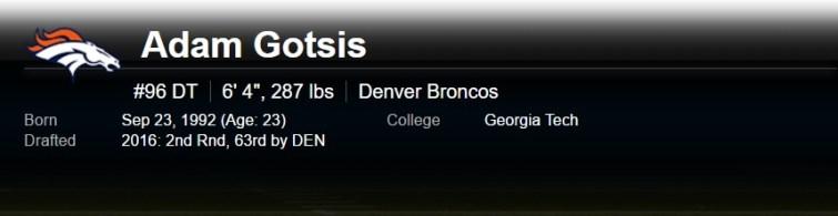 Adam Gotsis NFL Denver Broncos