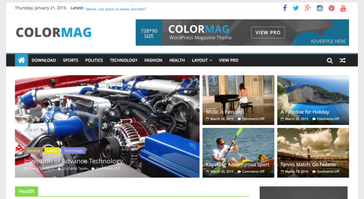 ColorMag WordPress Theme Screenshot