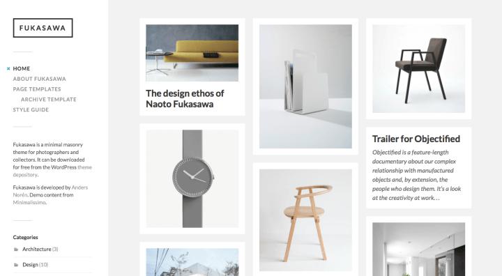 Fukasawa WordPress Theme Review Screenshot