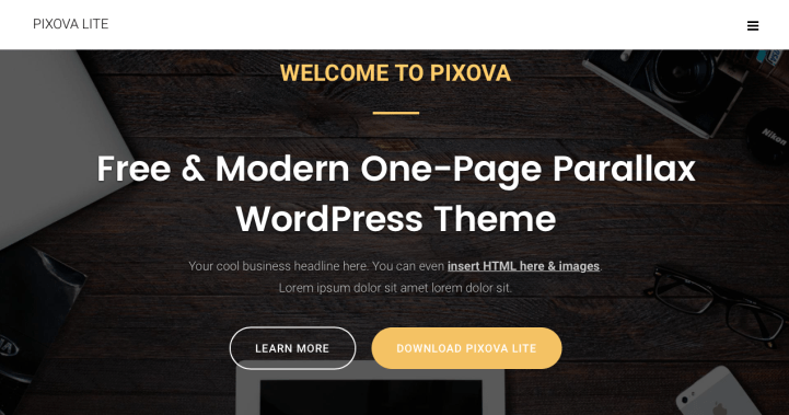 Pixova Lite WordPress Theme