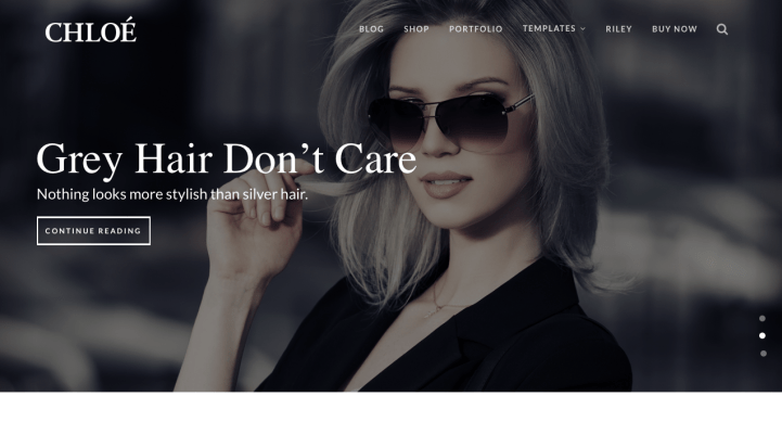 Kitt WordPress Theme Chloe Screenshot