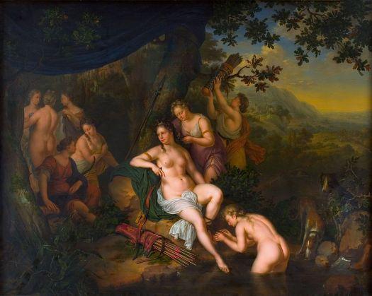Άρτεμη και Νύμφες. Mieris, Willem van, 1702 Άμστερνταμ, Rijksmuseum.jpg