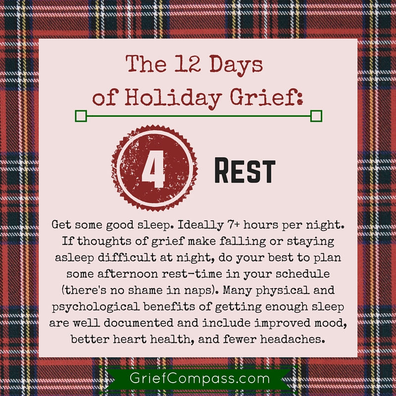 Holiday Grief help day four