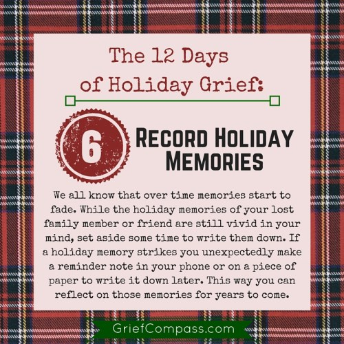 Grief Tips for the Holidays