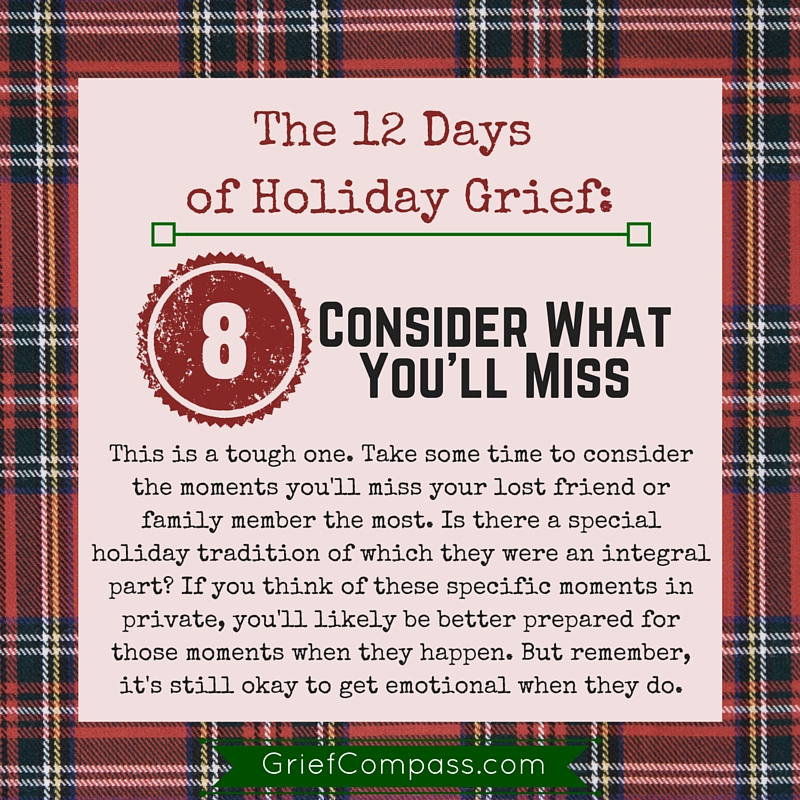 Help with holiday grief from Grief Compass